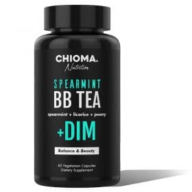 Spearmint BB Tea Plus DIM Beauty & Hormone Balance Capsules Caffeine Free